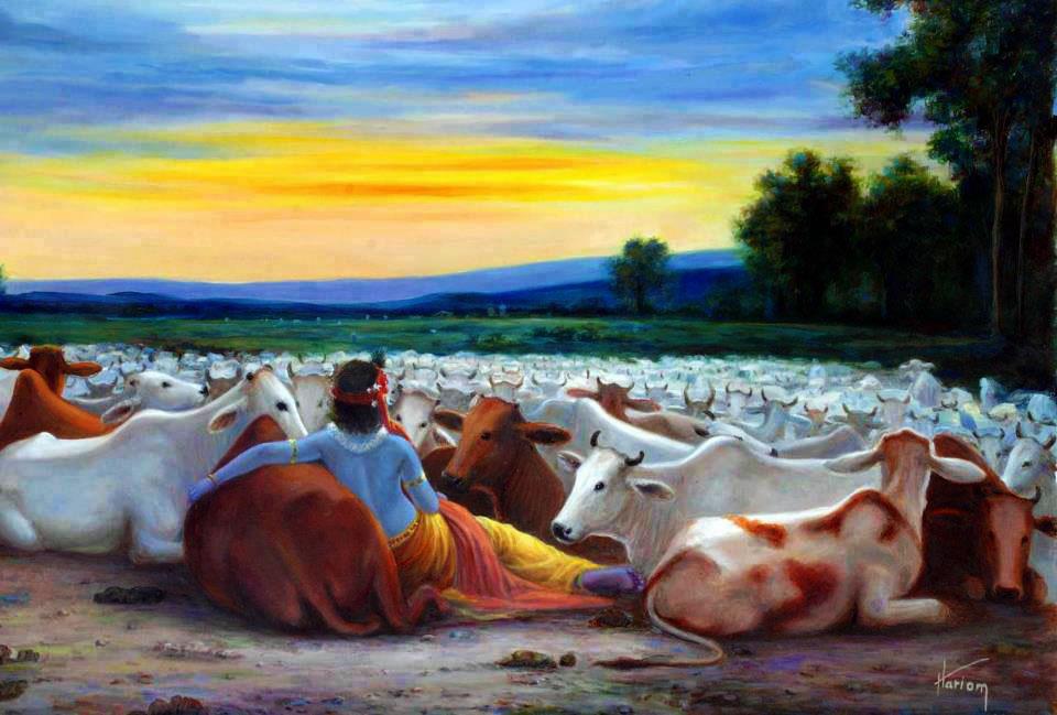 Кришна и коровы