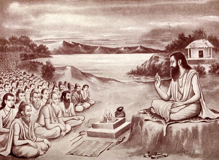 Мудрецы слушают Махабхарату