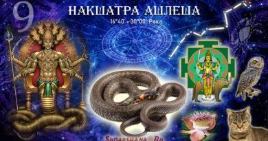 Накшатра Ашлеша - Ashlesha/Ashresa