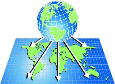 сферическая проекция земли на карту