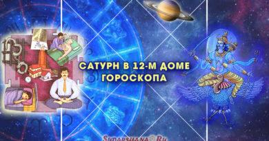 Шани - Сатурн в 12-м доме