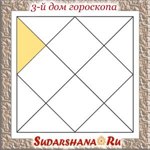 Третий дом гороскопа в ведической астрологии