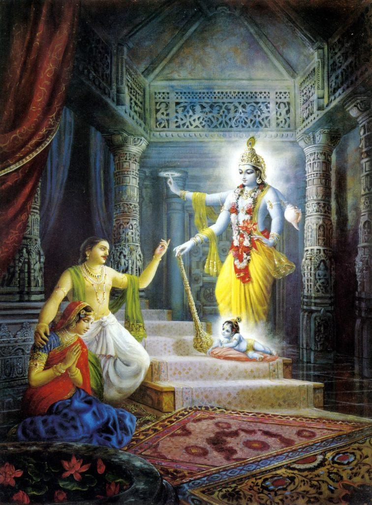 Махабхарата - Господь Кришна явился как сын Деваки и Васудевы