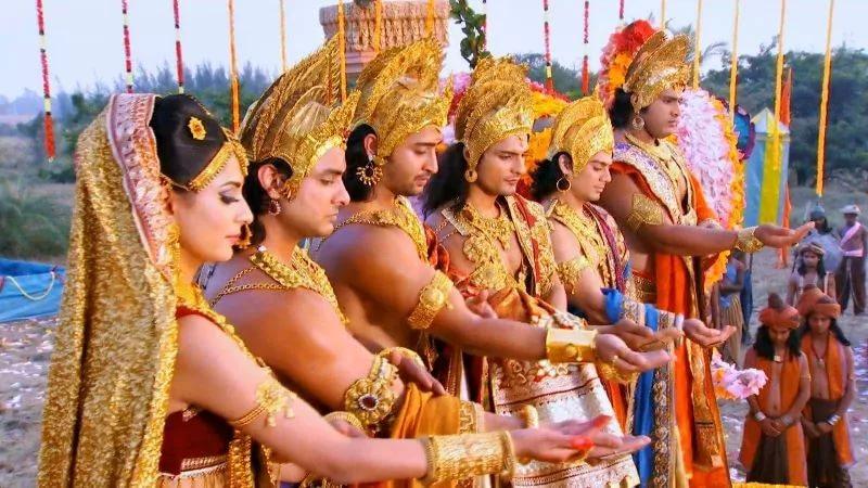 Махабхарата - Пятеро Пандавов и Драупади