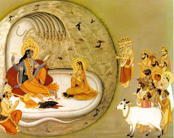 Махабхарата - Полубоги молятся Господу Вишну о спасении Земли