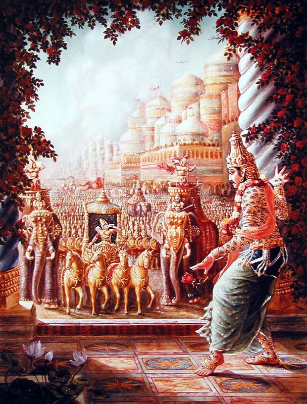 Махабхарата - Бали Махараджа завоевывает царство Индры