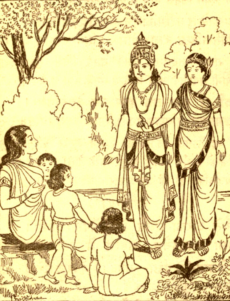 Махабхарата-122 - Деваяни узнает о детях Яяти от Шармиштхи