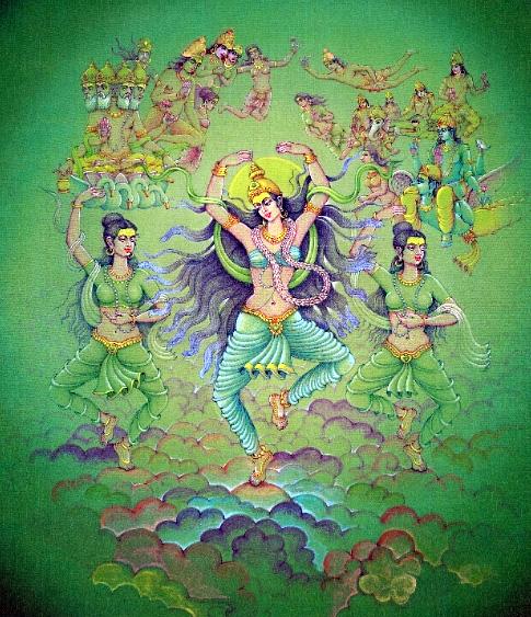 Махабхарата - Богиня Ганга в обители Брахмы