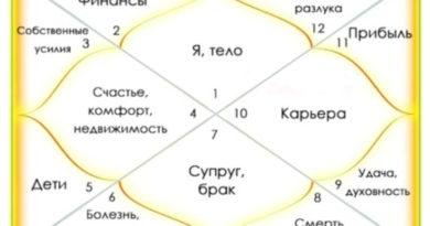 дома гороскопа - главные значения