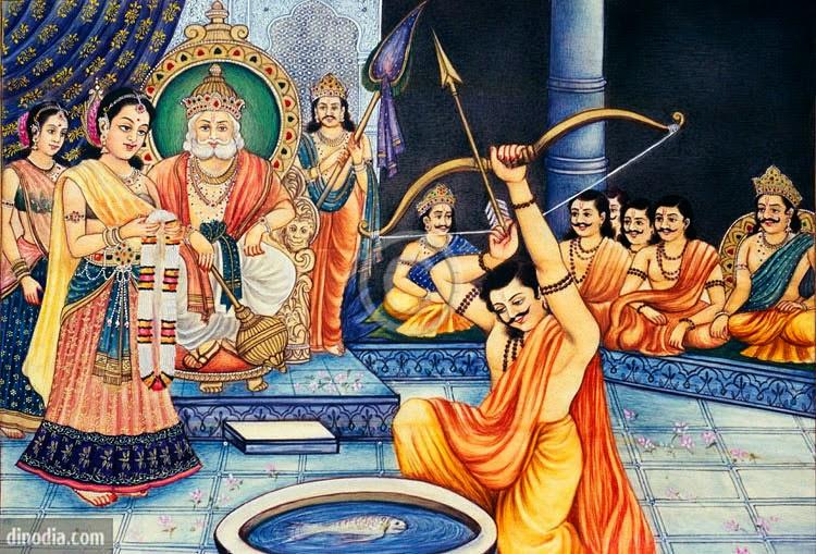 Махабхарата - Арджуна на сваямваре Драупади
