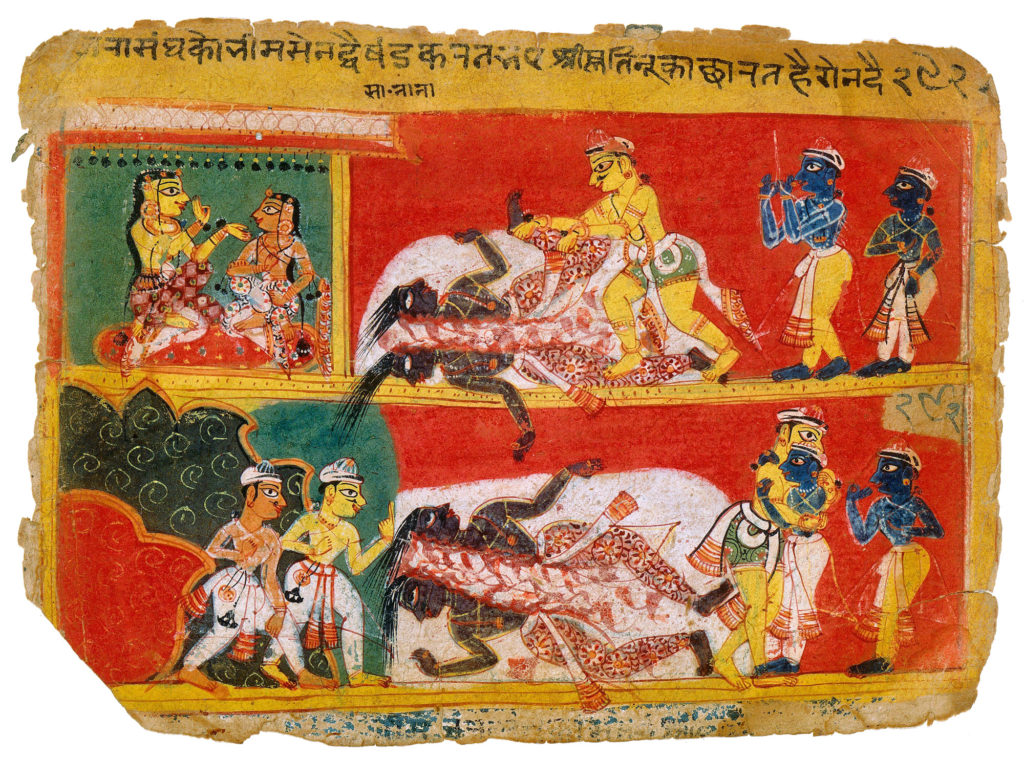 Махабхарата - Бхима убивает Джарасандху