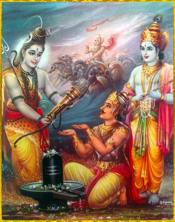 Махабхарата - Господь Шива дарует Арджуне оружие Пашупата