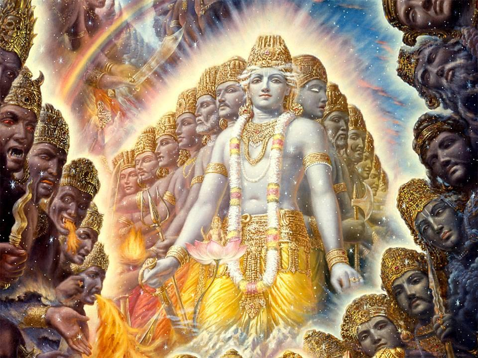 Махабхарата - Кришна являет Вселенскую Форму