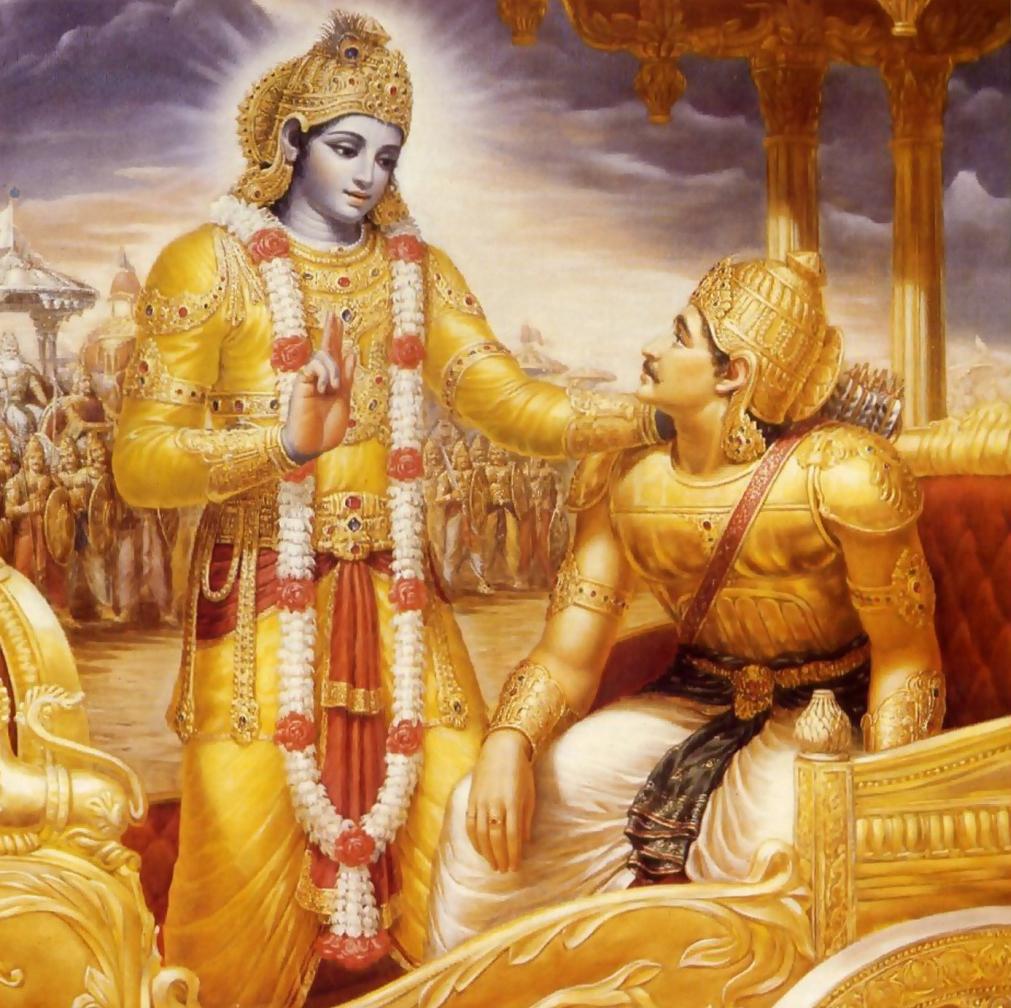 Махабхарата - Кришна рассказывает Бхагавад-Гиту