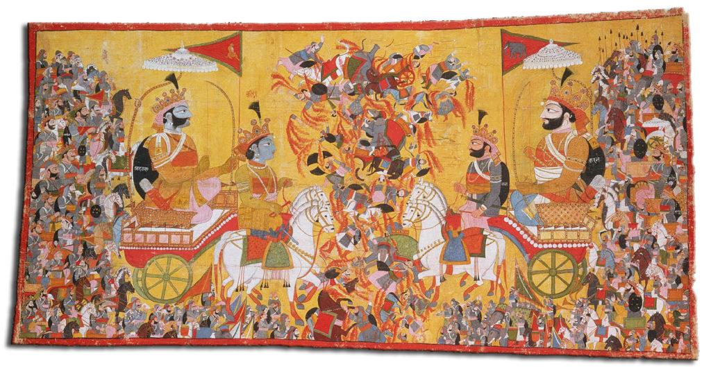 Махабхарата - Арджуна сражается с Карной