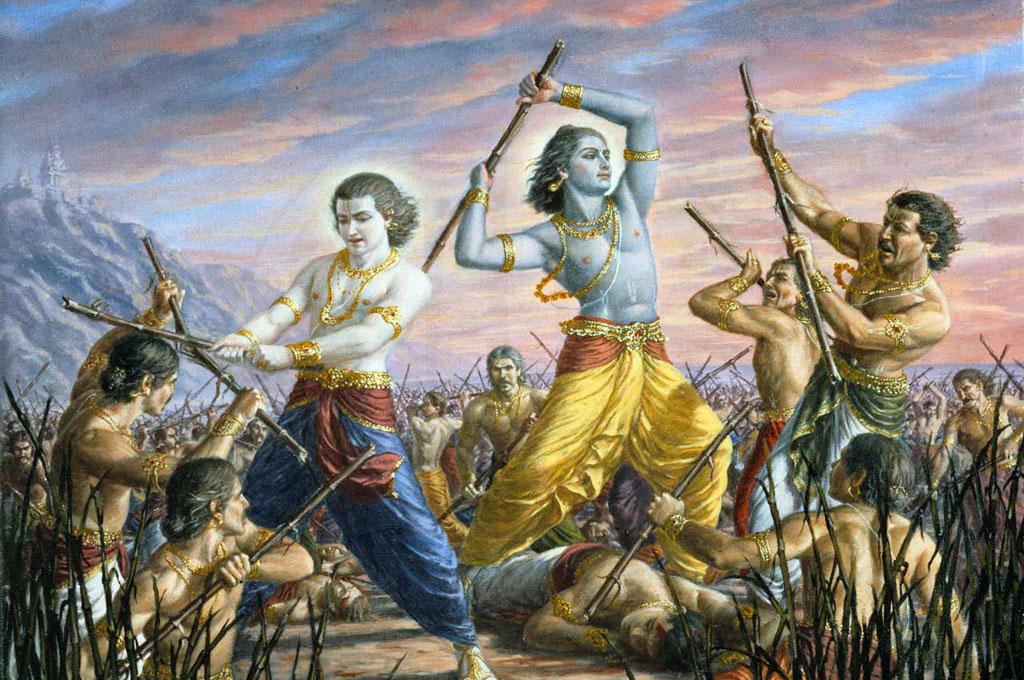 Махабхарата - Кришна и Баларама уничтожают династию Йаду