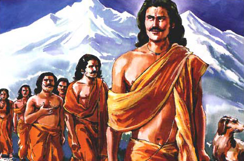 Махабхарата - Пандавы покидают Землю