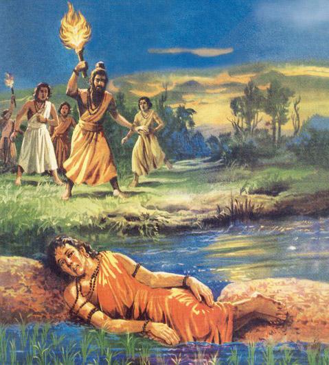 Махабхарата - История Аруни, ученика Дхаумьи