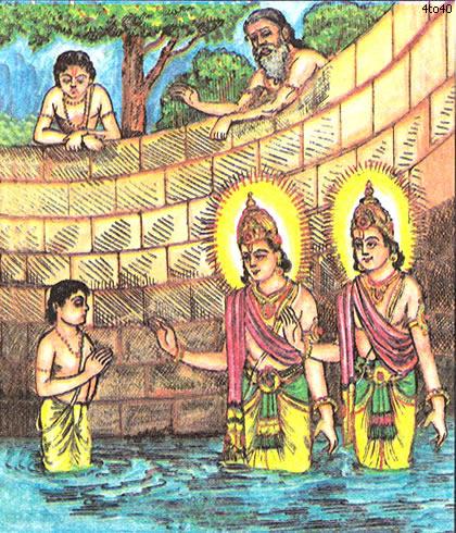 Махабхарата - Ашвины излечивают Упаманью