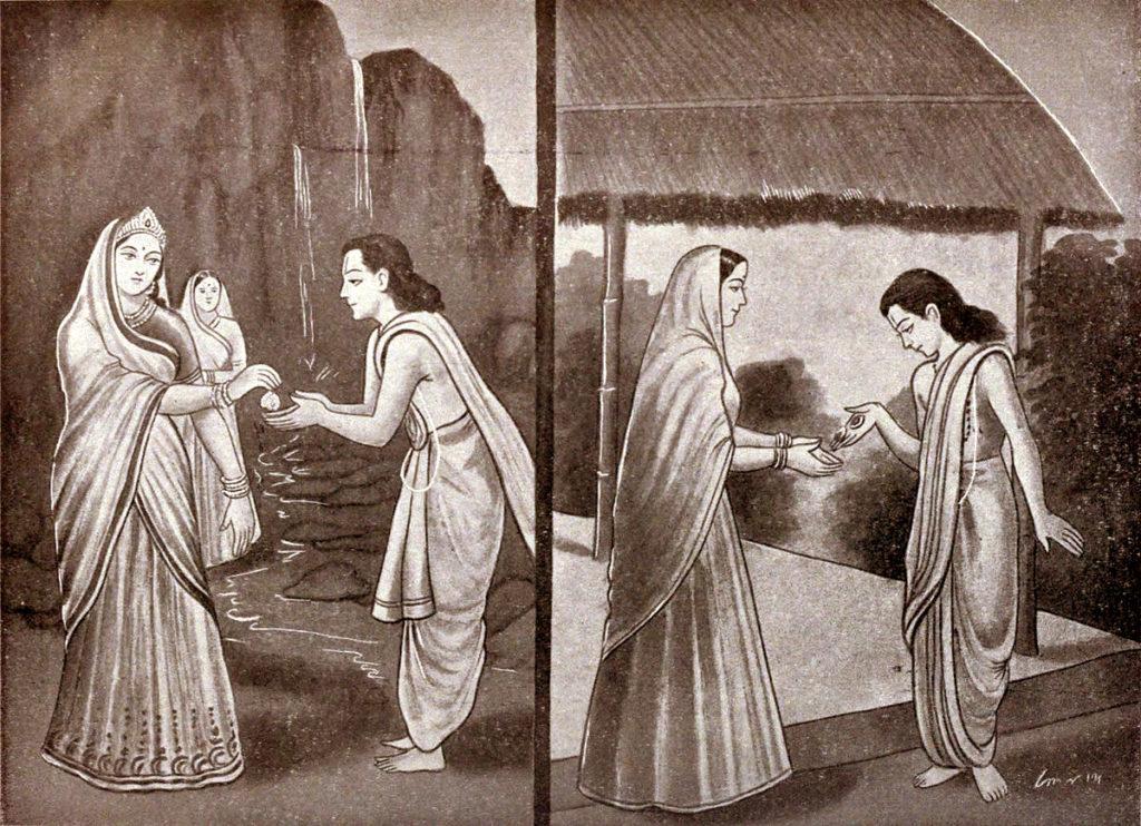 Махабхарата - Уттанка получает серьги для жены своего гуру