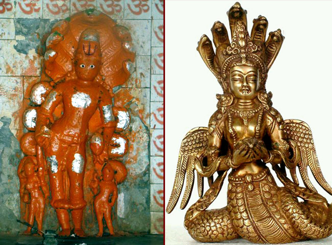 Махабхарата - Такшака похищает серьги у Уттанки