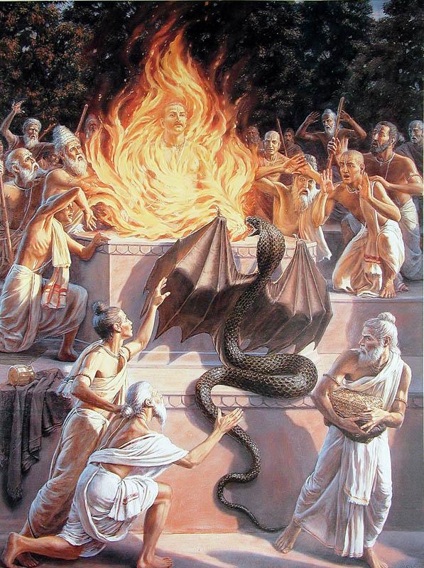 Махабхарата - Такшака убивает Махараджа Парикшита