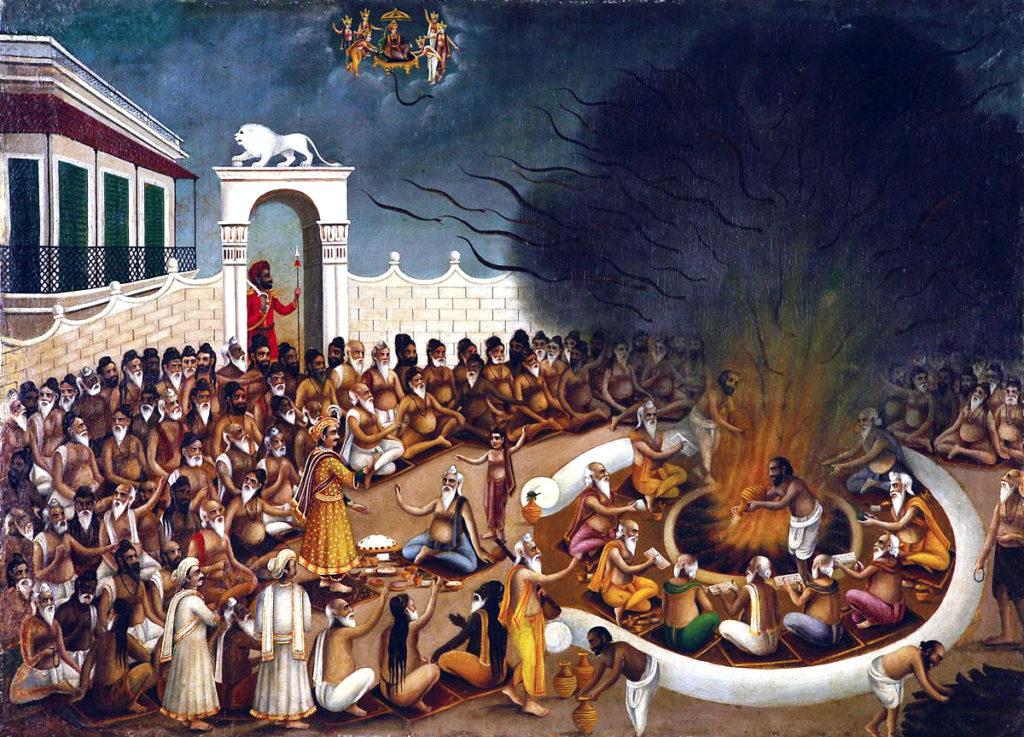 Махабхарата - жертвоприношение змей