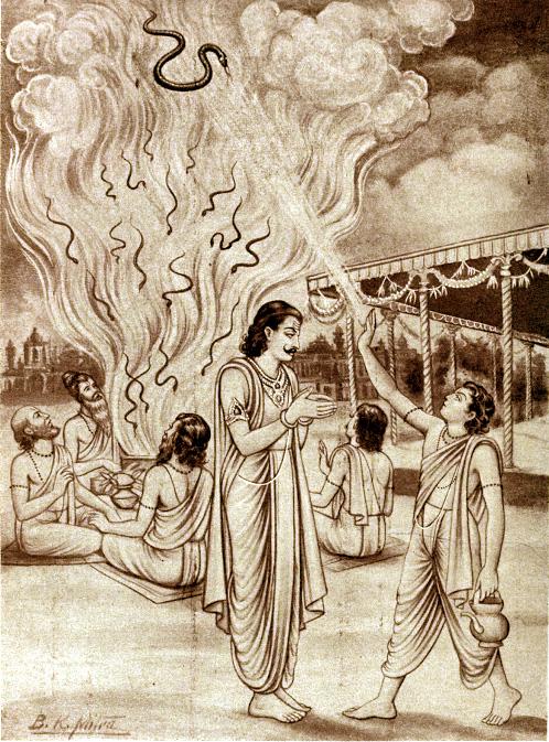 Махабхарата - Астика останавливает жертвоприношение змей