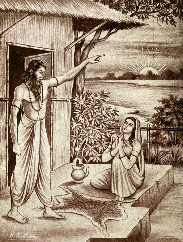 Махабхарата - мудрец Джараткару отрекается от своей жены
