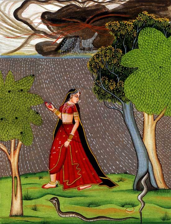 Махабхарата - Васуки отдает мудрецу Джараткару в жены свою сестру