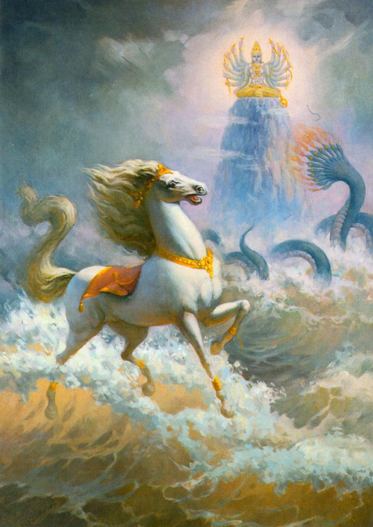 Махабхарата - Пахтание океана и конь Уччайхшрава