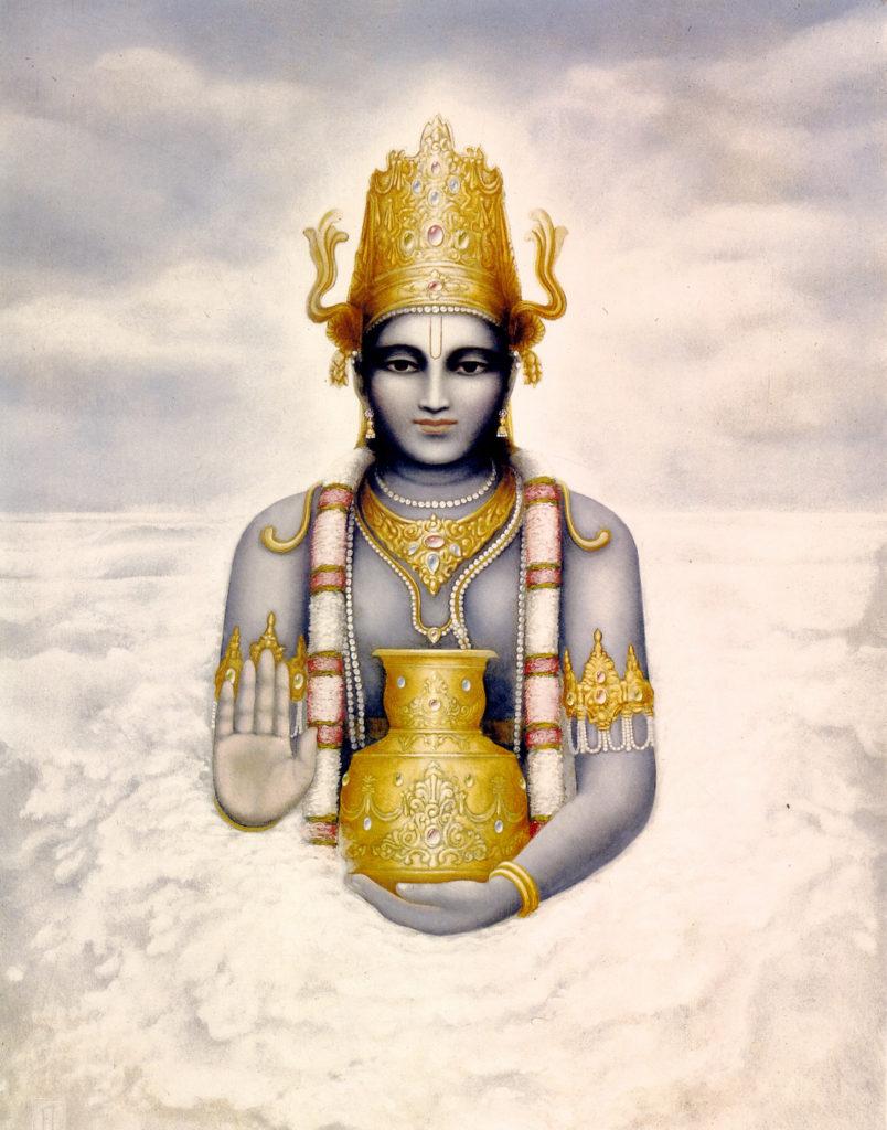 Махабхарата - Господь Дханвантари приносит нектар бессмертия