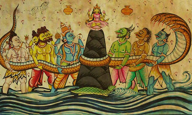 Махабхарата - Пахтание молочного океана