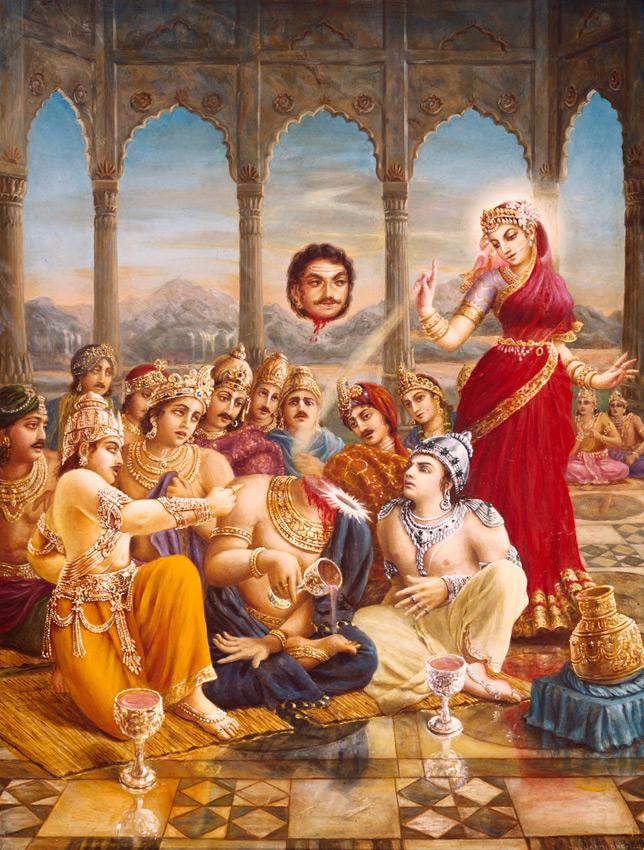 Махабхарата - Демон Раху выпивает нектар