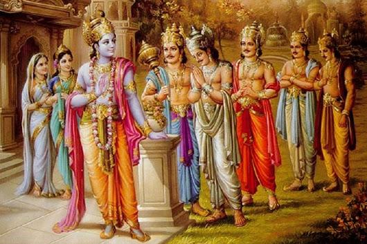 Махабхарата - Господь Кришна и пятеро Пандавов