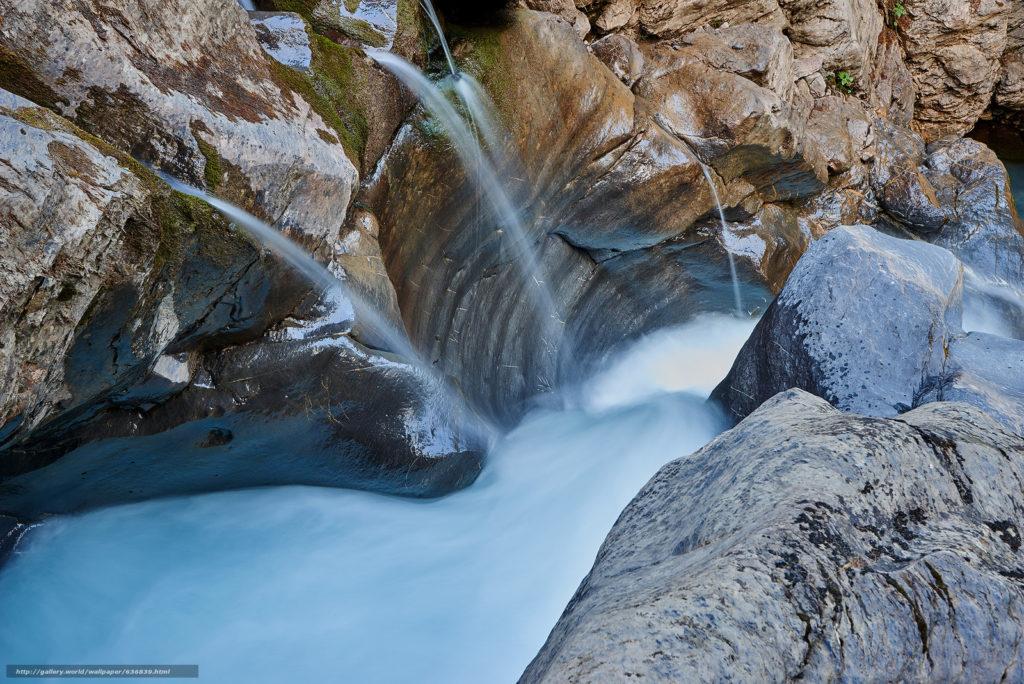 махабхарата - утес преграждает путь реке