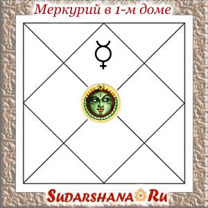 Меркурий (Буддха) в 1-м доме