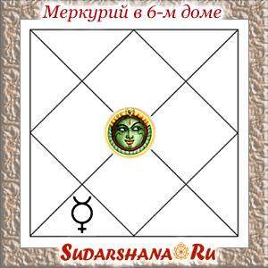Меркурий (Буддха) в 6-м доме