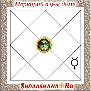 Меркурий (Буддха) в 9-м доме
