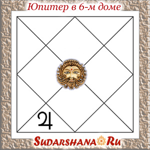 Юпитер (Гуру) в 6-м доме