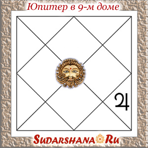 Юпитер (Гуру) в 9-м доме гороскопа