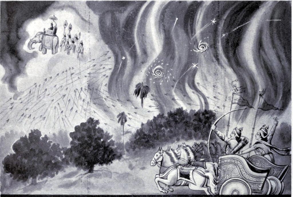 Арджуна и божественное оружие - лес Кхандава