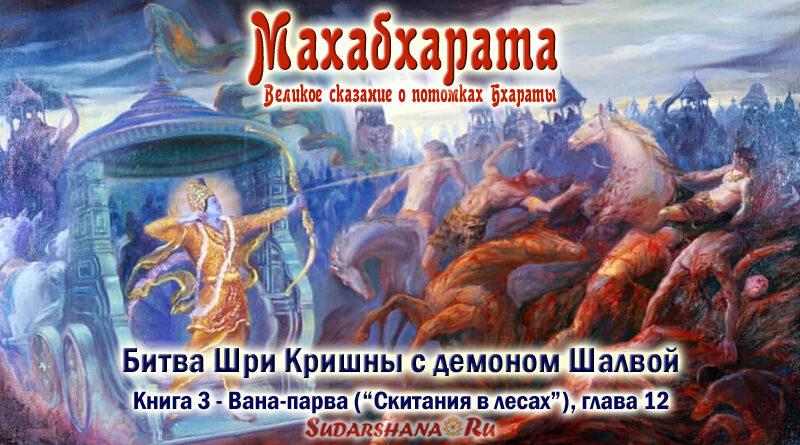 Махабхарата-Ванапарва-глава-012_Битва Шри Кришны с демоном Шалвой