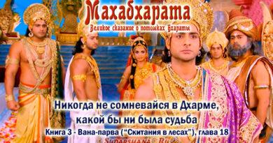 Махабхарата-Ванапарва-глава-018 - Никогда не сомневайся в Дхарме, какой бы ни была судьба