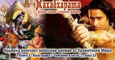 Махабхарата-Ванапарва-глава-023 - Арджуна получает небесное оружие от Хранителей Мира