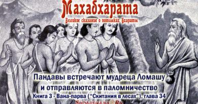 Махабхарата-Ванапарва-глава-034 - встречают мудреца Ломашу и отправляются в паломничество