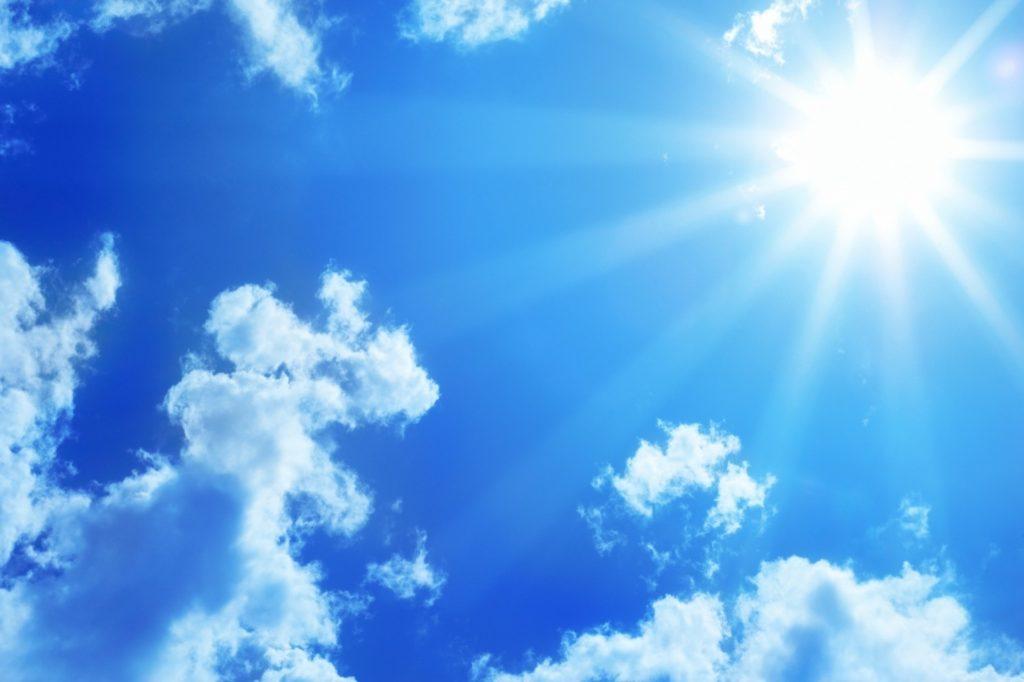 Солнце в небе (полдень)