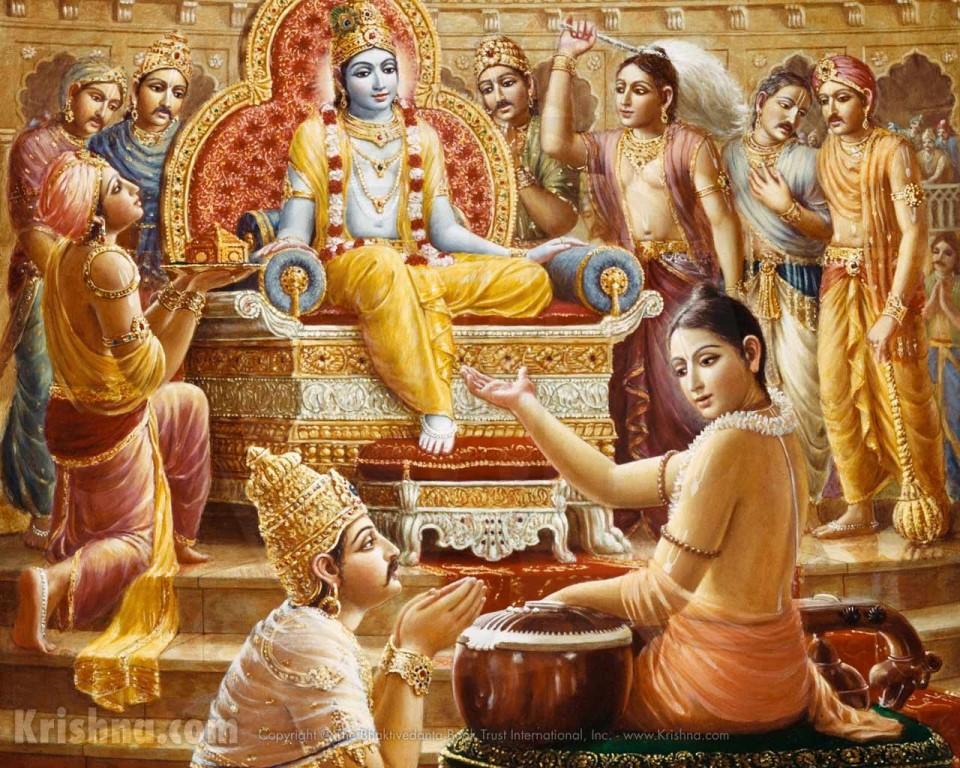 Кришна и Юдхиштхира