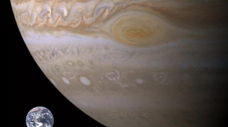 земля в сравнении с юпитером