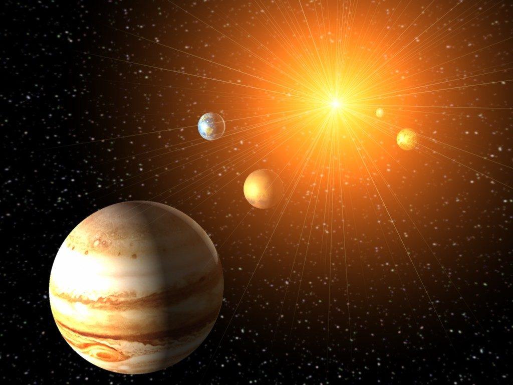 Юпитер в солнечной системе